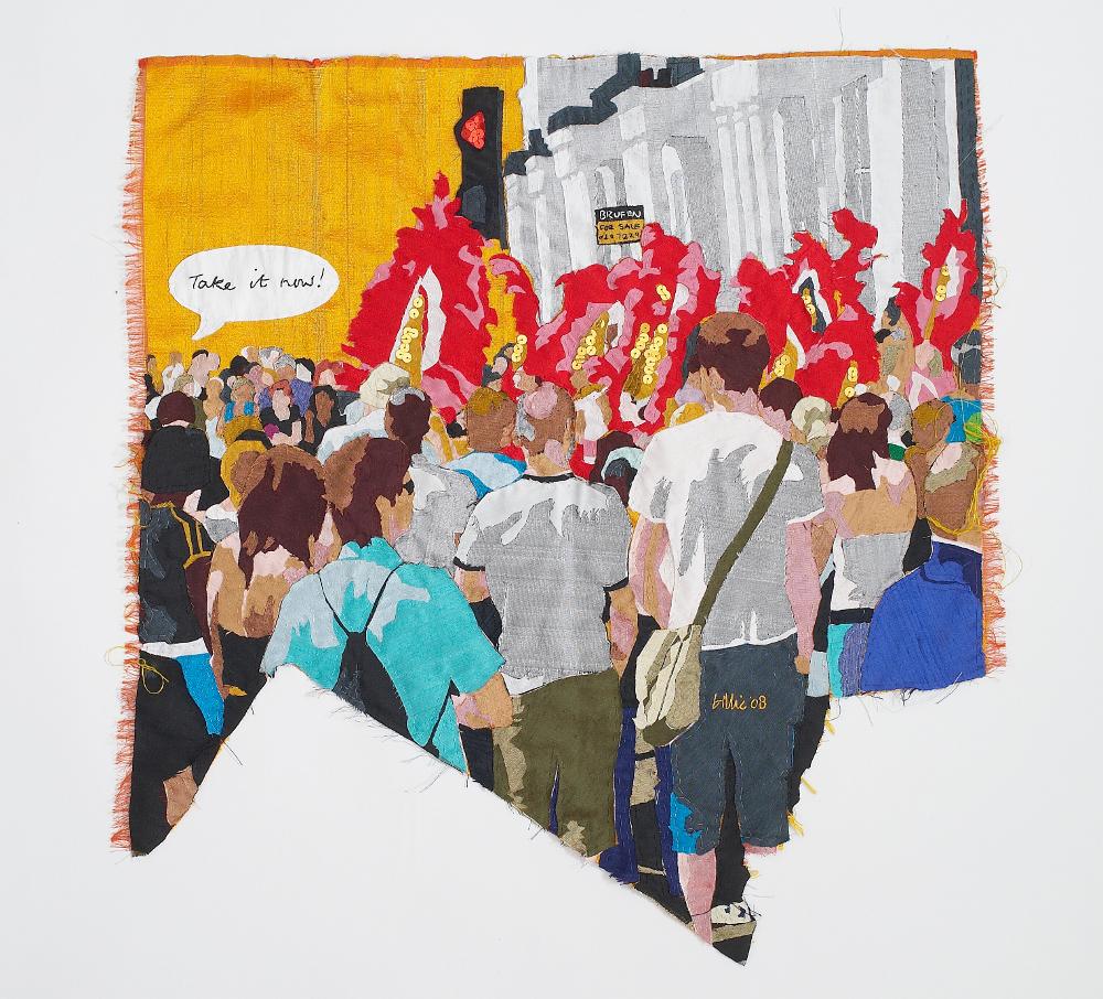 carnival, silk tapestry, 55x54cm