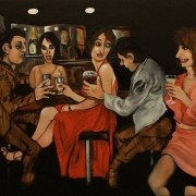 bar room nights, oil on canvas, 81x100cm, 2013