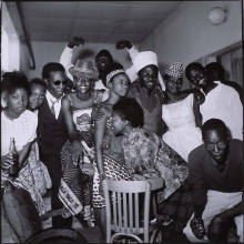 afronova gallery, malick sidibé,family party, 1966, hand printed fiber gelatin print
