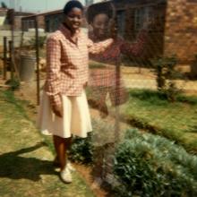 afronova gallery lebohang kganye hekeng ya kereke II, inkjet print on cotton rag paper, 42x42cm, 2012, edition of 5