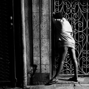 child prostitute, inner city, johannesburg, silver gelatin on fibre-based paper, 42x62cm, 1997, edition of 12