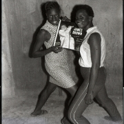 James brown fans, 1965, hand printed fiber base silver gelatin print