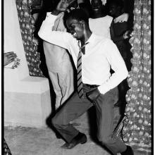 afronova gallery, malick sidibe, merengue dancer, 1964, hand printed fiber base silver gelatin print