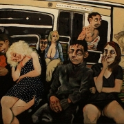 midnight on the metro, oil on canvas, 81x100cm, 2013