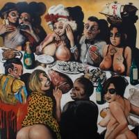 the ambassadors friends, oil on canvas, 150x150cm, 2013