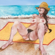 a bather, oil on canvas, 46x36cm, 2009