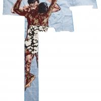 disarming mars, silk tapestry, 136x123cm, 2010
