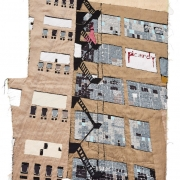 fire escape, silk tapestry, 108x64cm
