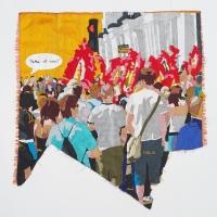 carnival, silk tapestry, 55x54cm, 2008