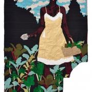 constant gardener, silk tapestry, 138x105cm