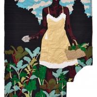 constant gardener, silk tapestry, 138x105cm, 2014