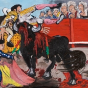 death of a matador, oil on canvas, 80x100cm, 2010