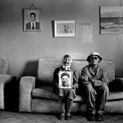 ouma johanna strauss, her son and a photograph, 1998-1999, silver gelatin on fibre-based paper, 48x71.5cm, edition of 6