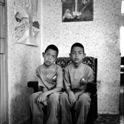 julian and julius, the bosluis basters, eksteenfontein, 1998-1999, silver gelatin on fibre-based paper, 71.5x48cm, edition of 6
