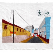 freedom road, silk tapestry, 61x84cm