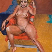 hommage a gauguin, oil on canvas, 92x65cm, 2009