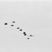 parachutes, 1987, hand made print on fiber base, edition of 5