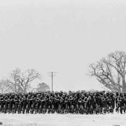 sadf troops, hand made print on fiber base, edition of 5