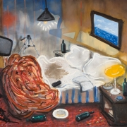 hotels, oil on canvas, 122x142cm, 2007