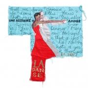 la danse, silk tapestry, 82x79cm