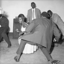 afronova gallery, malick sidibe, dance the twist, 1965, hand printed fiber base silver gelatin print