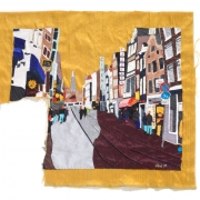 november in amsterdam, silk tapestry, 56.5x50.5cm