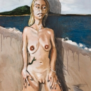 nude from a bar, oil on canvas, 61x50cm, 2010