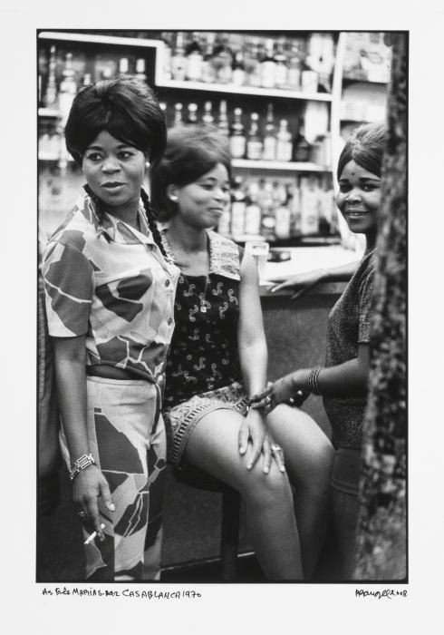 afronova gallery, ricardo rangel, the three marias, casablanca bar, 1970, hand printed fiber base silver gelatin print