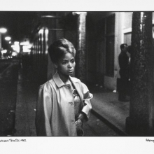 afronova gallery, ricardo rangel, sad eyed model in this street of merry making, 1962, hand printed fiber base silver gelatin print