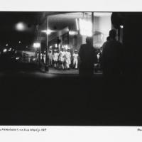 sailors night in the rua araujo, 1969, hand printed fiber base silver gelatin print