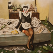 room service 1, oil on canvas, 100x100cm, 2011