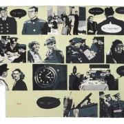 spy story, silk tapestry, 139x205cm