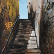 the 36 steps, oil on canvas, 73x61cm, 2008
