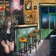 the bar at the end of the street, oil on canvas, 80x100cm, 2009