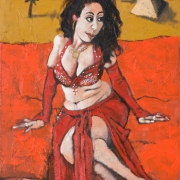 the belly dancer, oil on canvas, 61x46cm, 2008