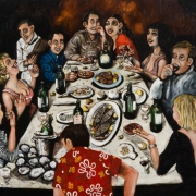 the dinner parties, oil on canvas, 130x162cm, 2010