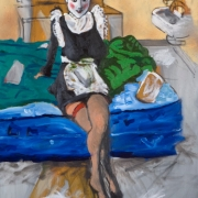 the japanese french maid, oil on canvas, 95x71cm, 2008