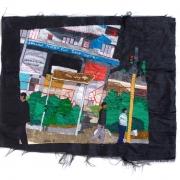 troyeville sundays, silk tapestry, 61x51cm