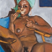 young woman with an ice cream, oil on canvas, 61x45cm, 2008