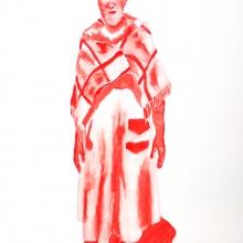 waiting for gebane, watercolour, 59.5x42cm