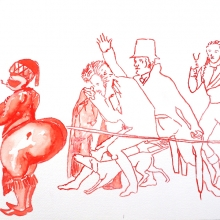 covering sarah baartman I, watercolour, 30x40.5cm, 2011