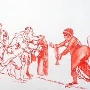 covering sarah baartman II, watercolour, 30x40.5cm, 2011