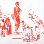 covering sarah baartman V, watercolour, 30x40.5cm, 2011