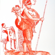 covering sarah baartman VI, watercolour, 40.5x30cm, 2011