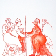 covering sarah baartman VIII, watercolour, 40.5x30cm, 2011