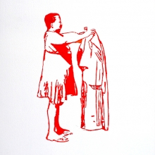 covering sarah baartman, watercolour, 40.5x30cm, 2011