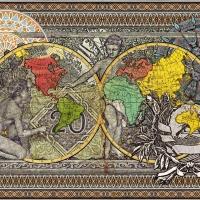 afronova gallery malala andrialavidrazana figures 1799, explorers' routes, ultrachrome pigment print on hahnemühle photo rag ultra smooth, 110x143cm, 2015, edition of 5
