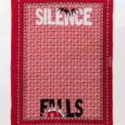 Silence falls, embroidery on kanga, 155xx115 cm