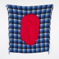 Failing 1, Recto, Wool on shawl, 132x120cm