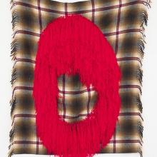 Failing, Recto, Wool on shawl, 132x120cm